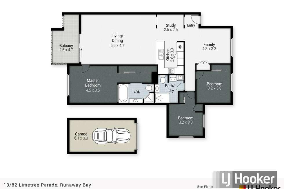 Floorplan of Homely apartment listing, 13/82 Limetree Parade, Runaway Bay QLD 4216