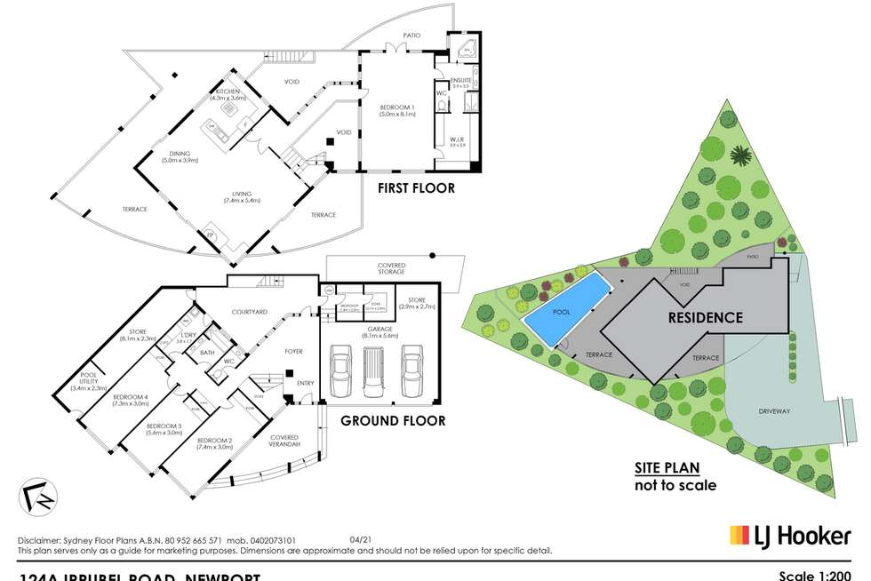Floorplan of Homely house listing, 124a Irrubel Road, Newport NSW 2106