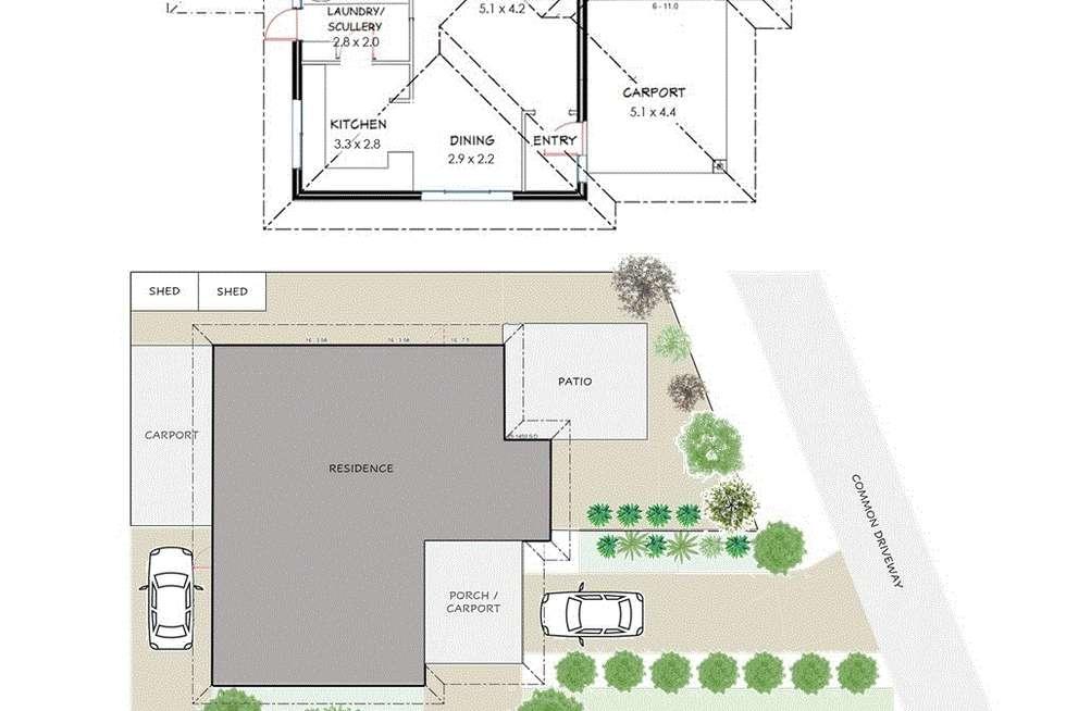 Floorplan of Homely villa listing, 2/15 Talga Close, Wilson WA 6107
