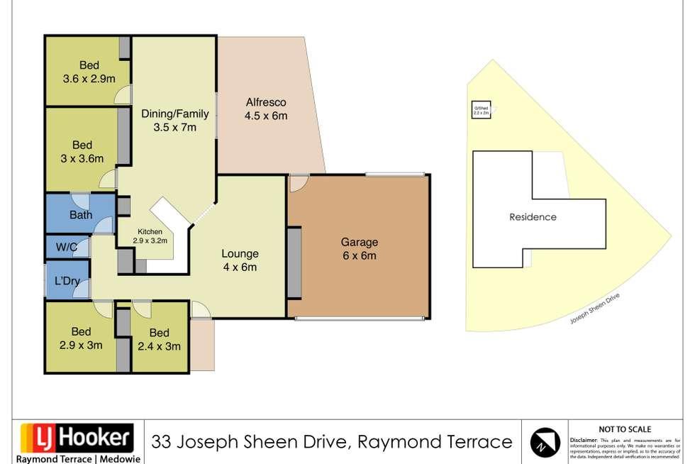Floorplan of Homely house listing, 33 Joseph Sheen Drive, Raymond Terrace NSW 2324