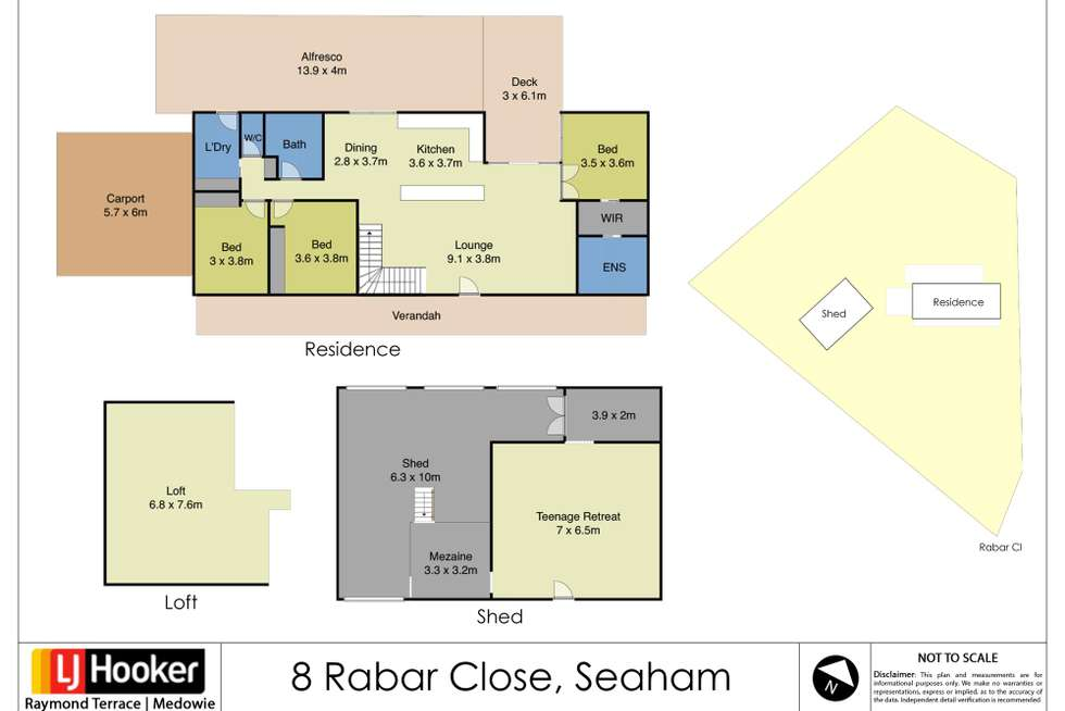 Floorplan of Homely house listing, 8 Rabar Close, Seaham NSW 2324