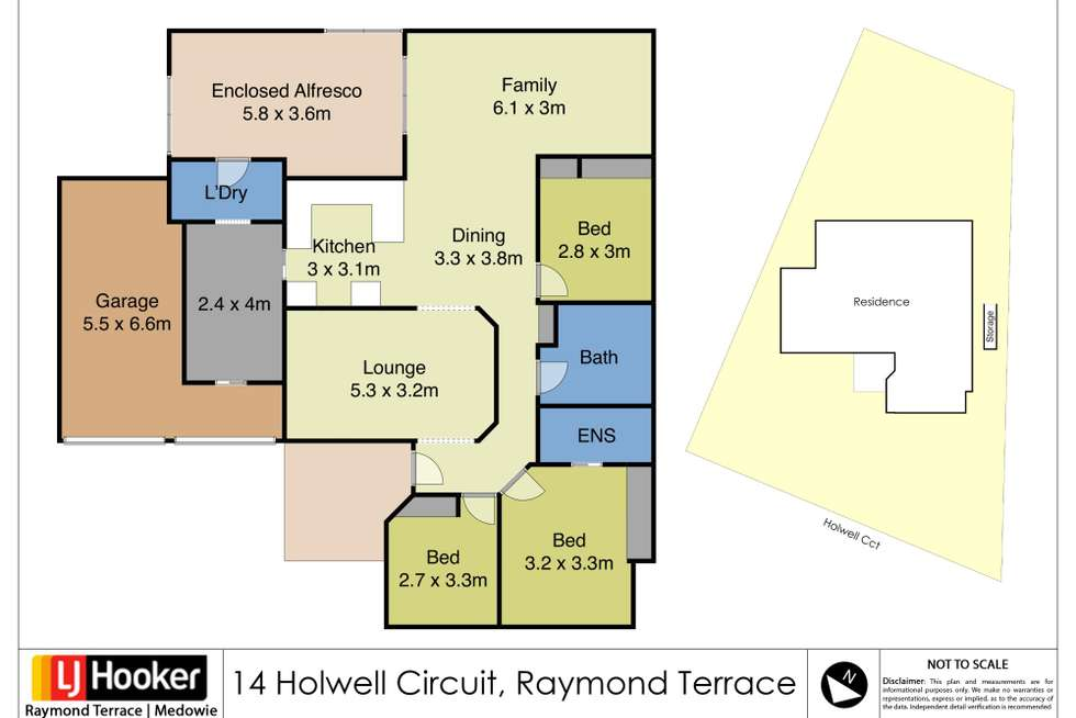 Floorplan of Homely house listing, 14 Holwell Circuit, Raymond Terrace NSW 2324