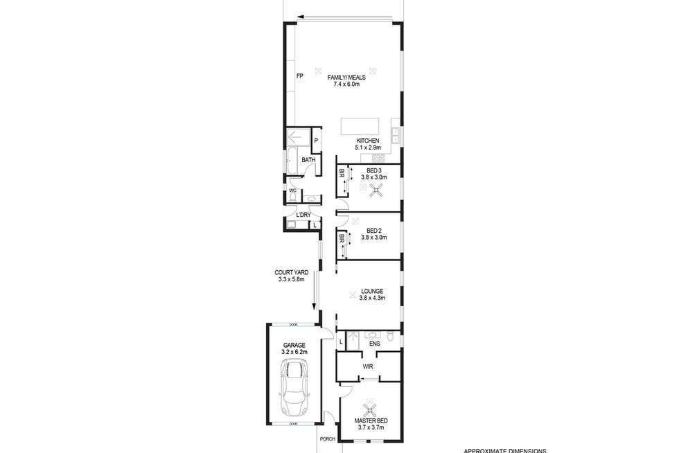 Floorplan of Homely house listing, 2C Templewood Avenue, Manningham SA 5086