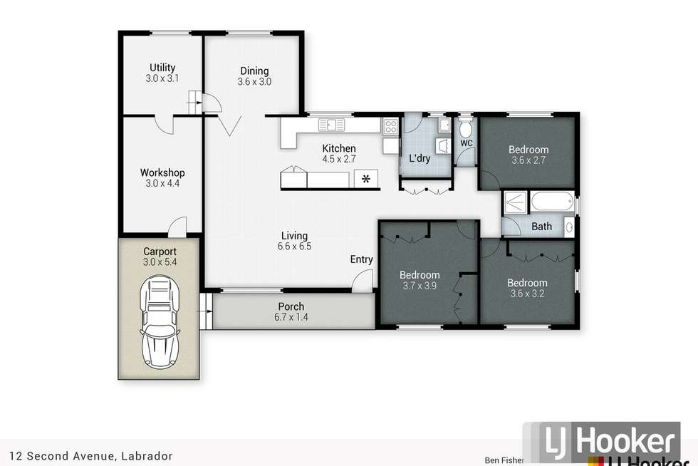 Floorplan of Homely house listing, 12 Second Avenue, Labrador QLD 4215