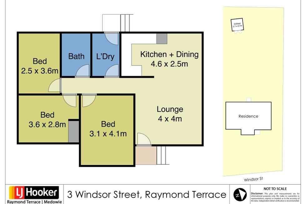 Floorplan of Homely house listing, 3 Windsor Street, Raymond Terrace NSW 2324