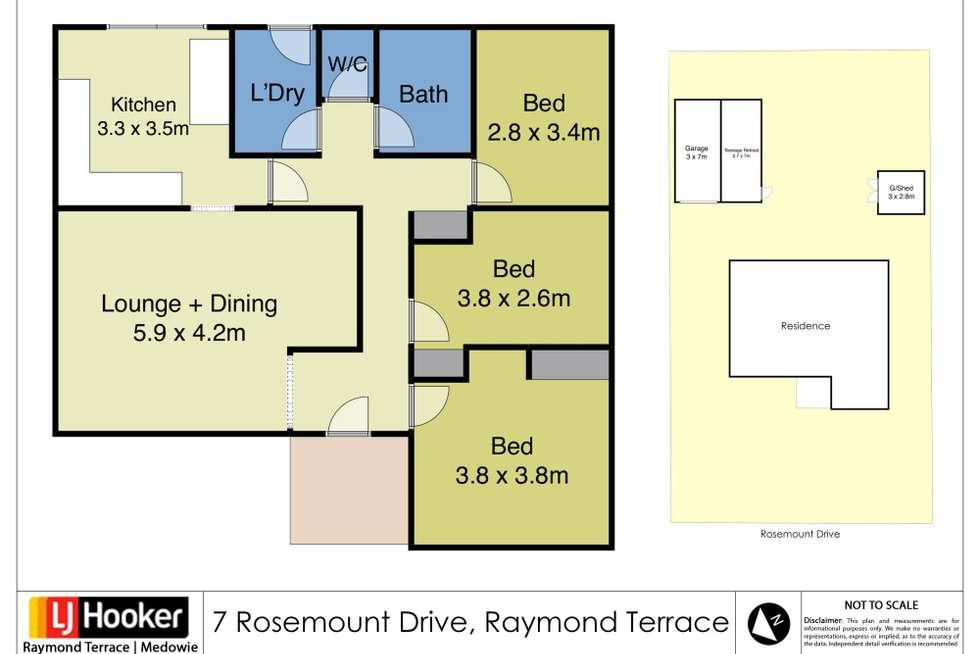 Floorplan of Homely house listing, 7 Rosemount Drive, Raymond Terrace NSW 2324