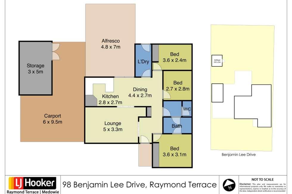 Floorplan of Homely house listing, 98 Benjamin Lee Drive, Raymond Terrace NSW 2324