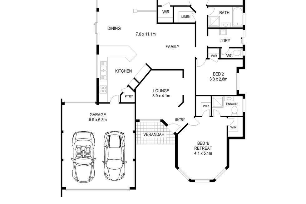 Floorplan of Homely house listing, 29 Pendleton Crescent, Butler WA 6036
