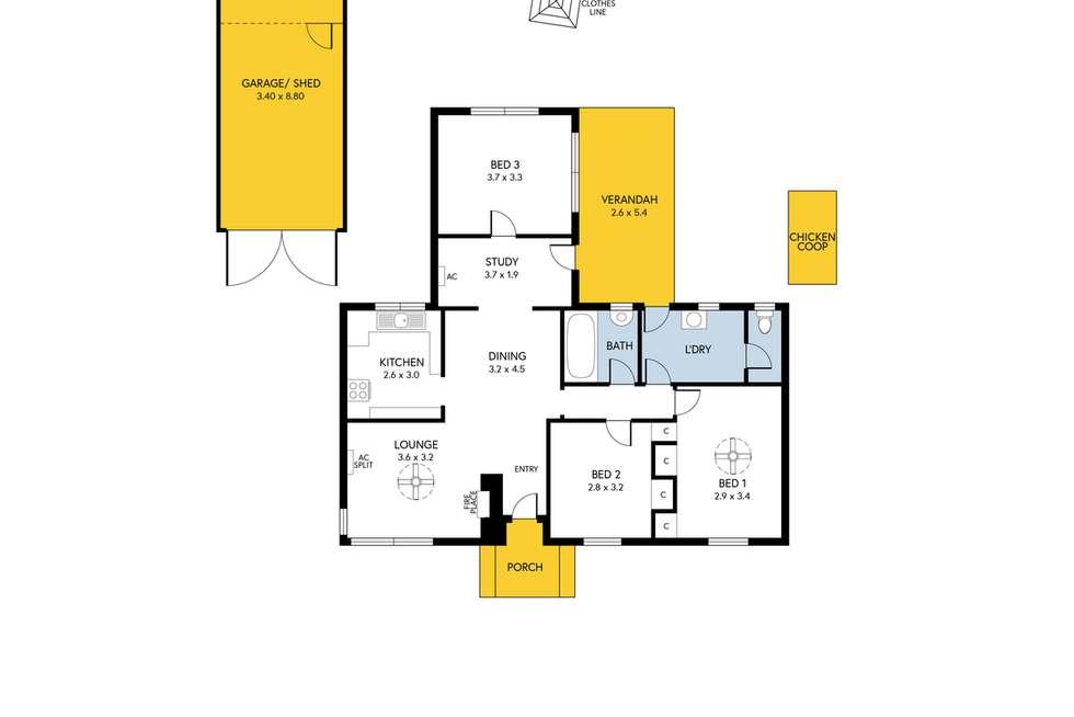 Floorplan of Homely house listing, 93 Hogarth Road, Elizabeth South SA 5112