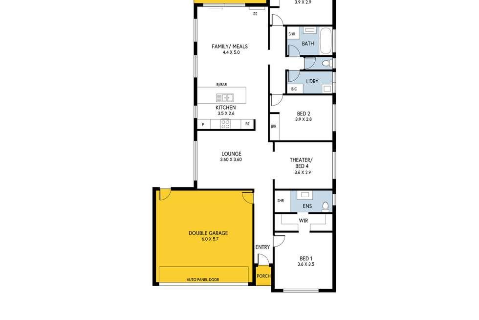 Floorplan of Homely house listing, 93 Centenary Circuit, Andrews Farm SA 5114