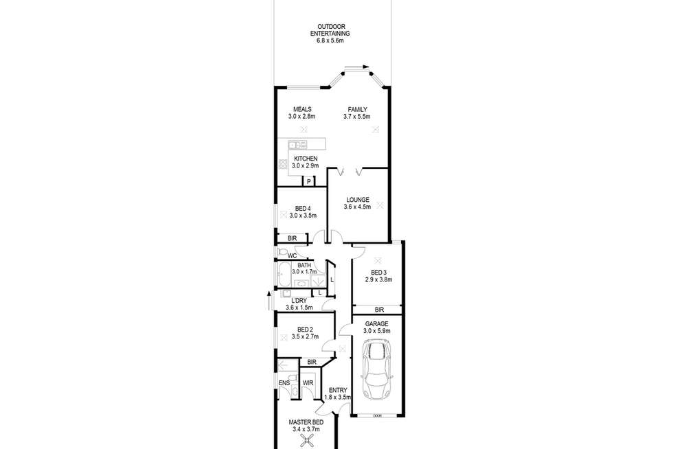 Floorplan of Homely house listing, 8 Gordon Avenue, Rostrevor SA 5073