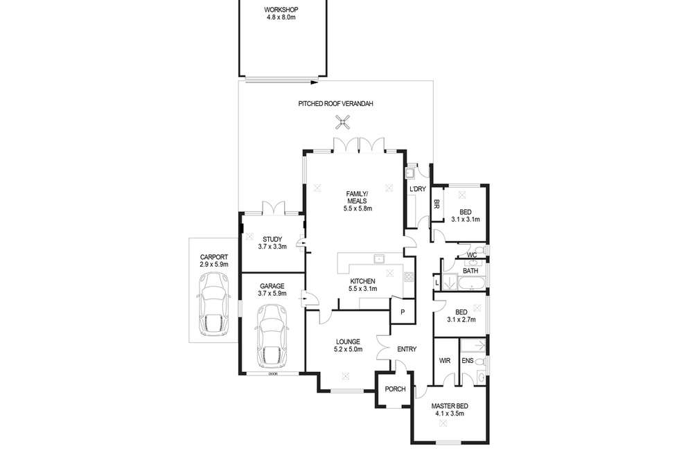 Floorplan of Homely house listing, 16 Ellythorp Avenue, Hectorville SA 5073