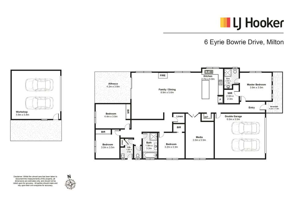 Floorplan of Homely house listing, 6 Eyrie Bowrie Drive, Milton NSW 2538