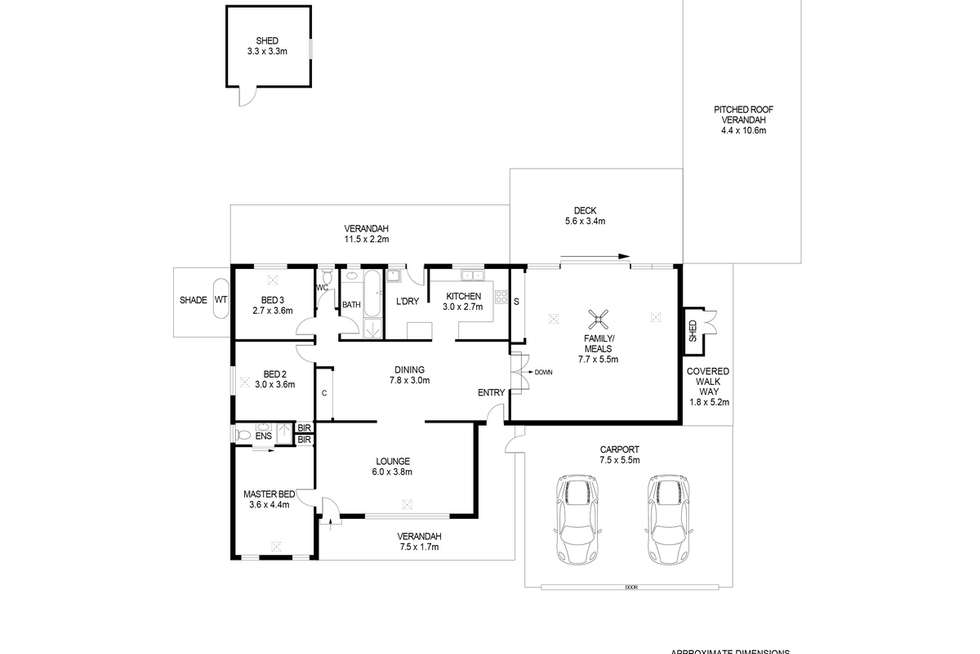 Floorplan of Homely house listing, 7 Wirraway Court, North Haven SA 5018
