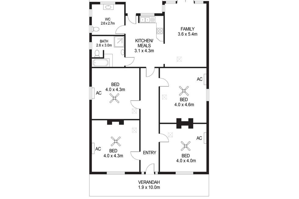 Floorplan of Homely house listing, 77 Churchill Road, Prospect SA 5082