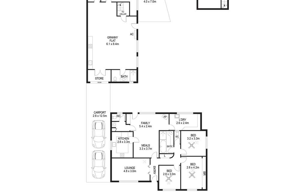 Floorplan of Homely house listing, 24 Sare Street, Hectorville SA 5073