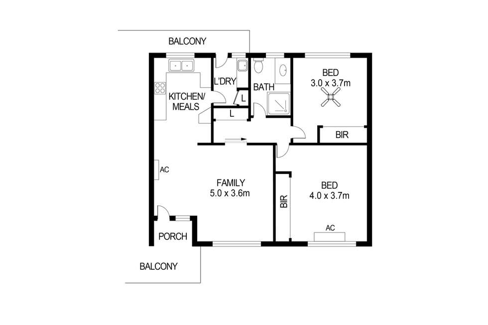 Floorplan of Homely unit listing, 8/62 George Street, Norwood SA 5067