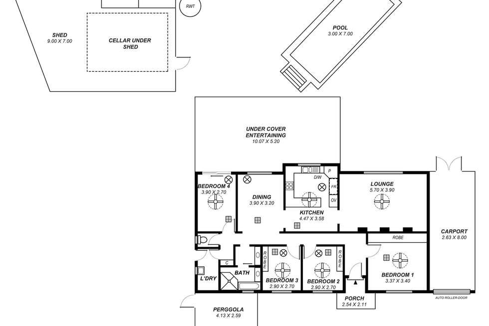 Floorplan of Homely house listing, 22 Ironbark Avenue, Craigmore SA 5114