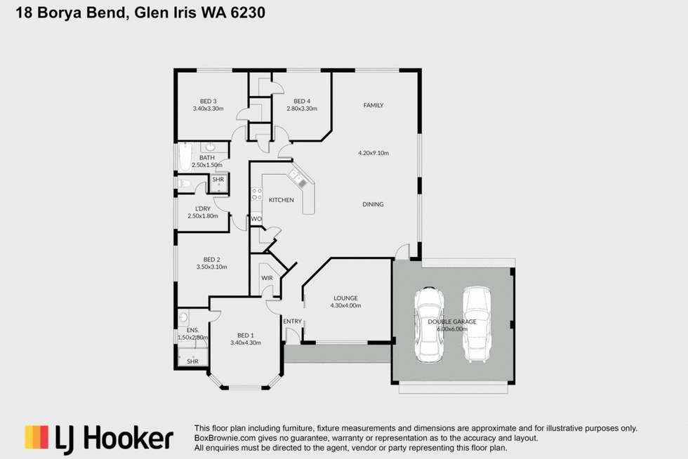 Floorplan of Homely house listing, 18 Borya Bend, Glen Iris WA 6230