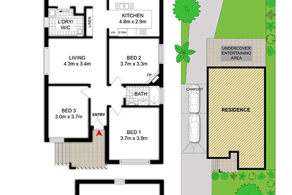 Floorplan of Homely house listing, 37 Barker Avenue, Silverwater NSW 2128