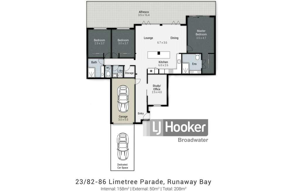 Floorplan of Homely unit listing, 23/82-86 Limetree Parade, Runaway Bay QLD 4216