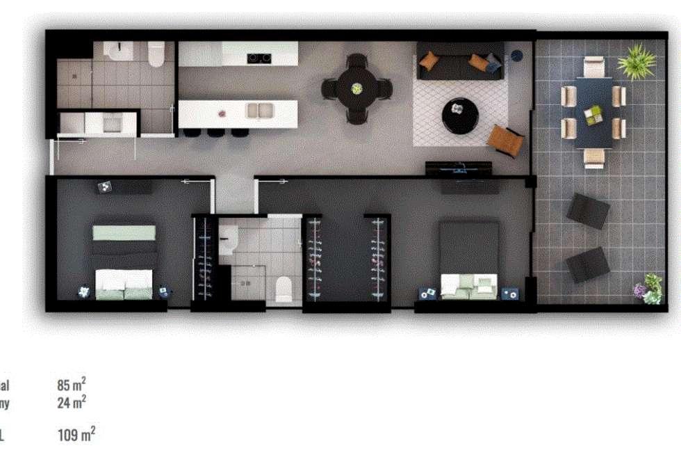 Floorplan of Homely unit listing, 105/27 Ekibin Road, Annerley QLD 4103