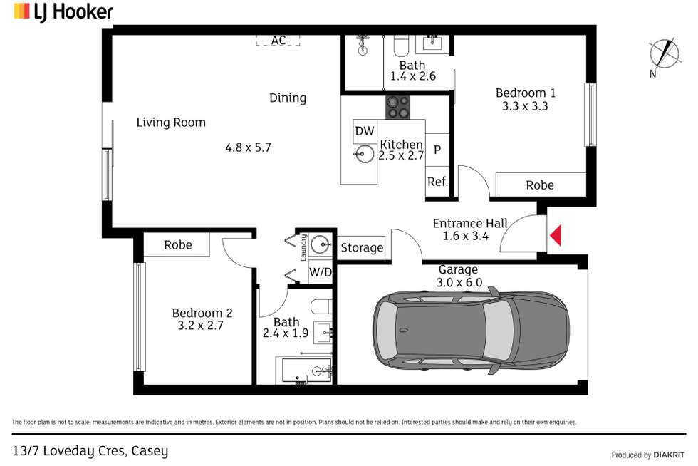 Floorplan of Homely townhouse listing, 13/7 Loveday Crescent, Casey ACT 2913