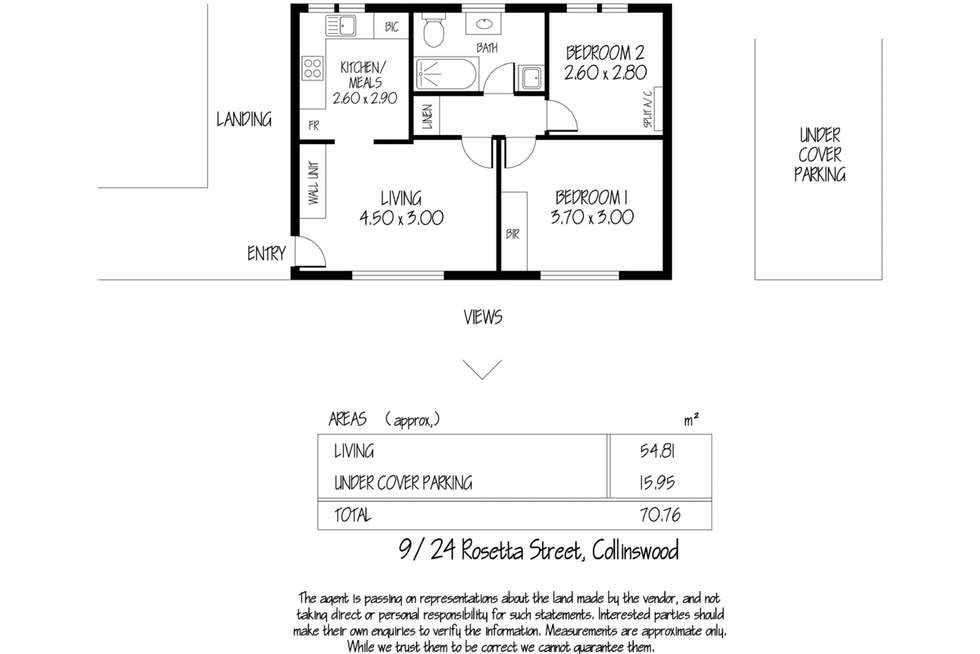 Floorplan of Homely unit listing, 9/24 Rosetta Street, Collinswood SA 5081