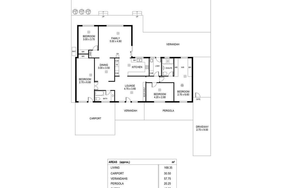 Floorplan of Homely house listing, 3 Andrea Street, Highbury SA 5089
