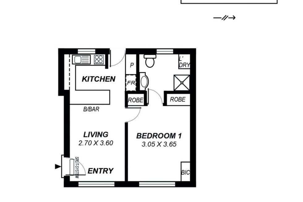 Floorplan of Homely unit listing, 3/15 Botanic Street, Hackney SA 5069