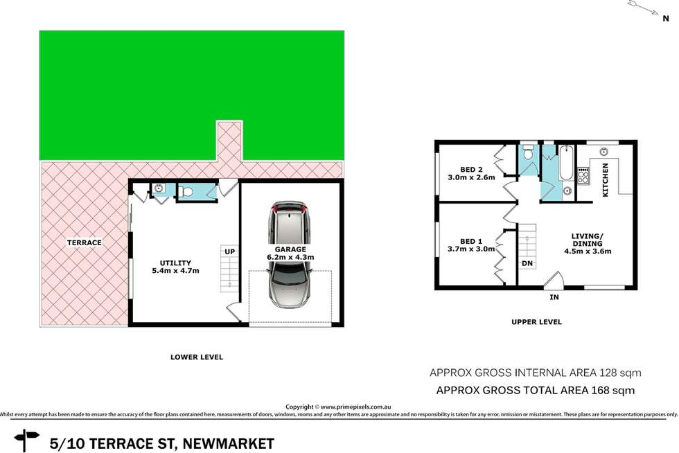 Floorplan of Homely townhouse listing, 5/10 Terrace Street, Newmarket QLD 4051