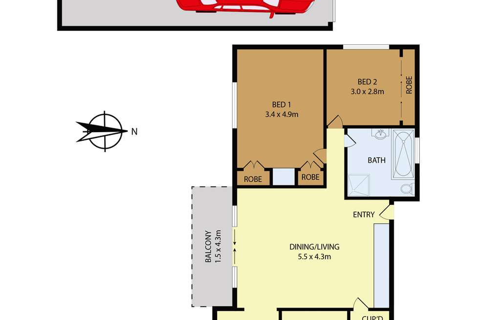 Floorplan of Homely unit listing, 3/4-6 Harold Street, Parramatta NSW 2150