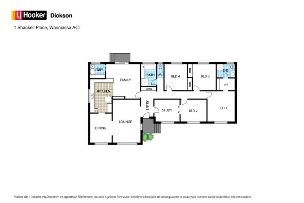 Floorplan of Homely house listing, 1 Shackell Place, Wanniassa ACT 2903