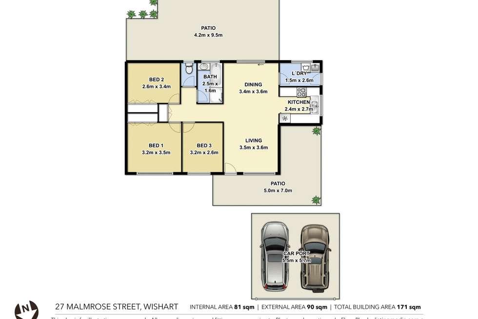 Floorplan of Homely house listing, 27 Malmrose Street, Wishart QLD 4122