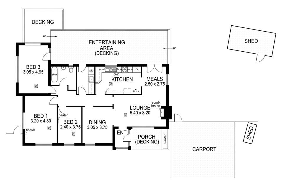 Floorplan of Homely house listing, 15 Gawler Street, Seaview Downs SA 5049