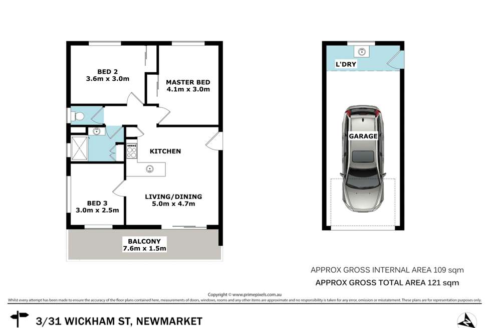 Floorplan of Homely unit listing, 3/31 Wickham Street, Newmarket QLD 4051