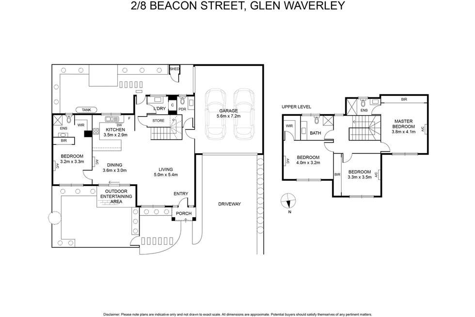 Floorplan of Homely house listing, 2/8 Beacon Street, Glen Waverley VIC 3150