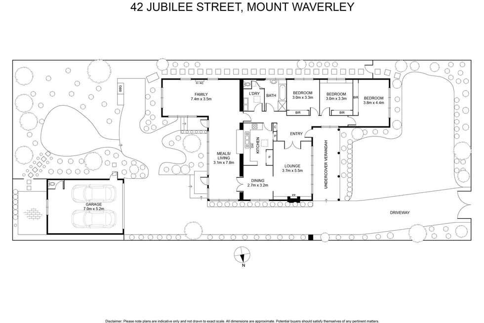 Floorplan of Homely house listing, 42 Jubilee Street, Mount Waverley VIC 3149
