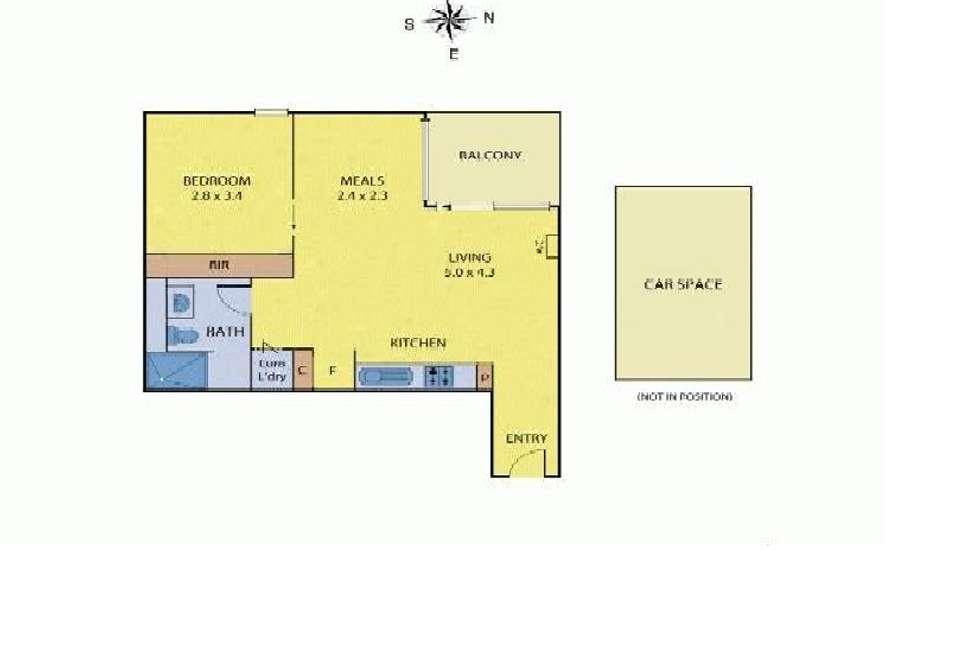Floorplan of Homely apartment listing, 205/227 Toorak Road, South Yarra VIC 3141