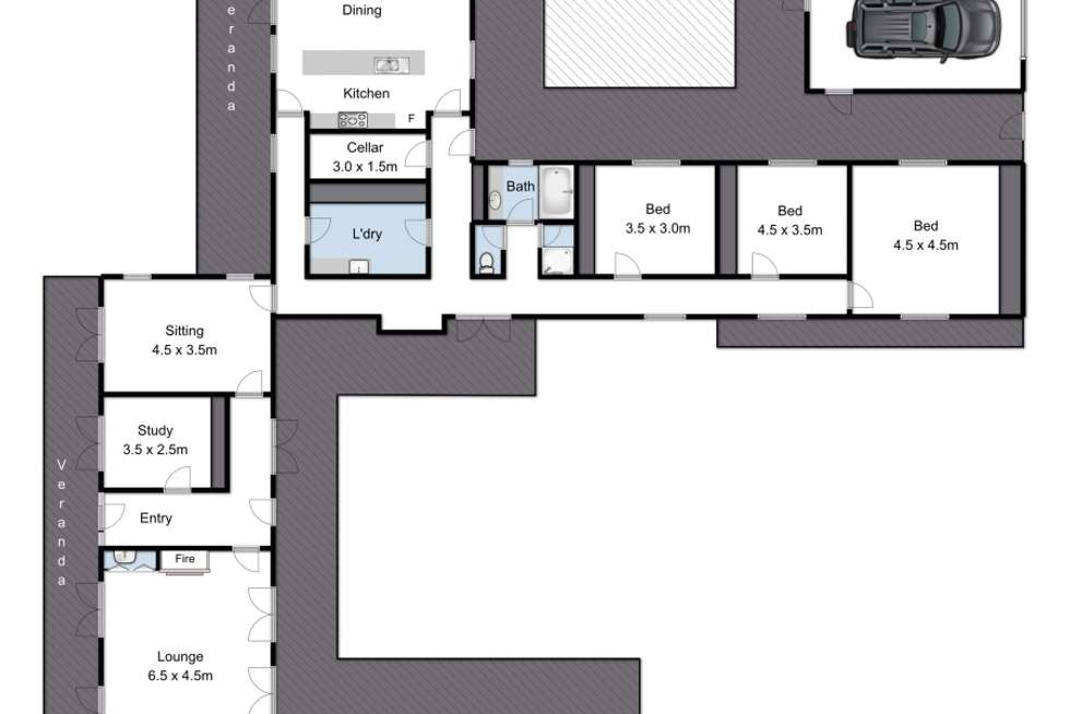 Floorplan of Homely acreageSemiRural listing, 221-229 Whitcombes Road, Drysdale VIC 3222