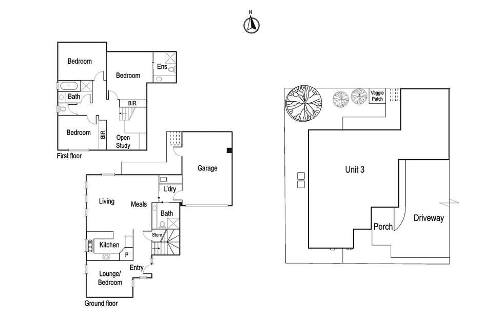 Floorplan of Homely townhouse listing, 3/25 Bamfield Road, Heidelberg Heights VIC 3081
