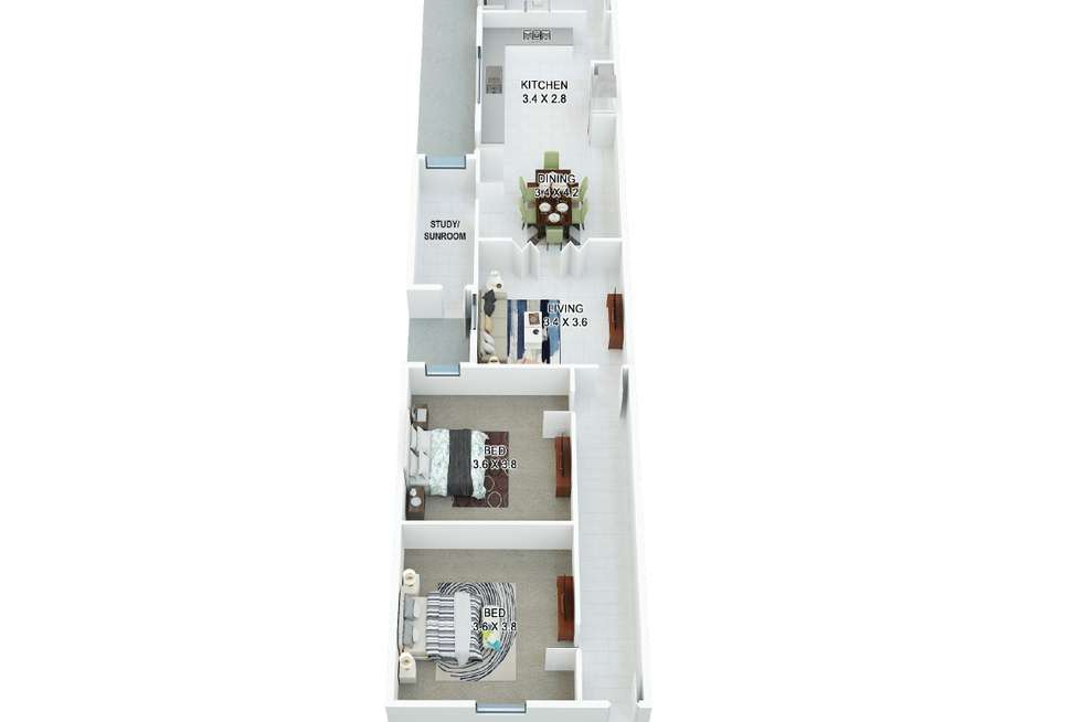 Floorplan of Homely house listing, 666 Queensberry Street, North Melbourne VIC 3051