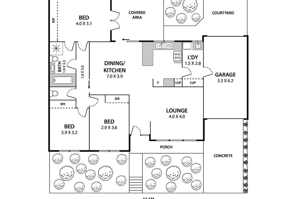 Floorplan of Homely house listing, 26A Thompson Street, Avondale Heights VIC 3034