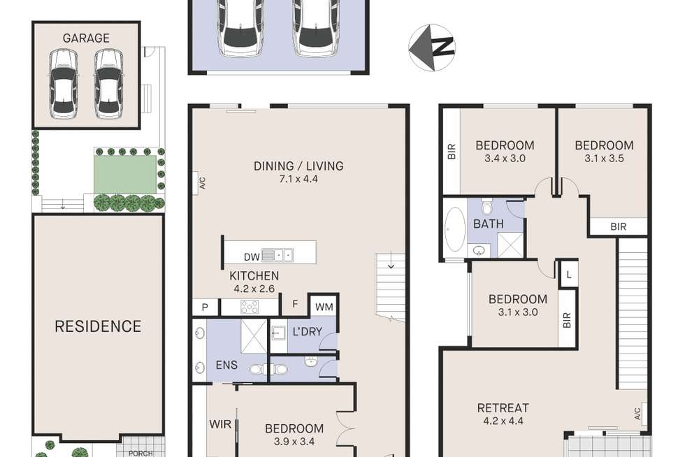 Floorplan of Homely house listing, 19 Coppin Lane, Caroline Springs VIC 3023