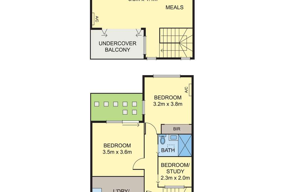 Floorplan of Homely townhouse listing, 2/77 Westgarth Street, Northcote VIC 3070