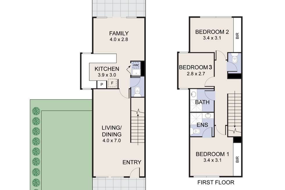 Floorplan of Homely townhouse listing, 12/94 Henry Kendall Street, Franklin ACT 2913