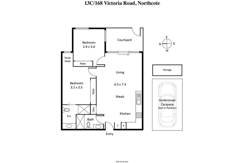 Floorplan of Homely apartment listing, 13c/168 Victoria Road, Northcote VIC 3070