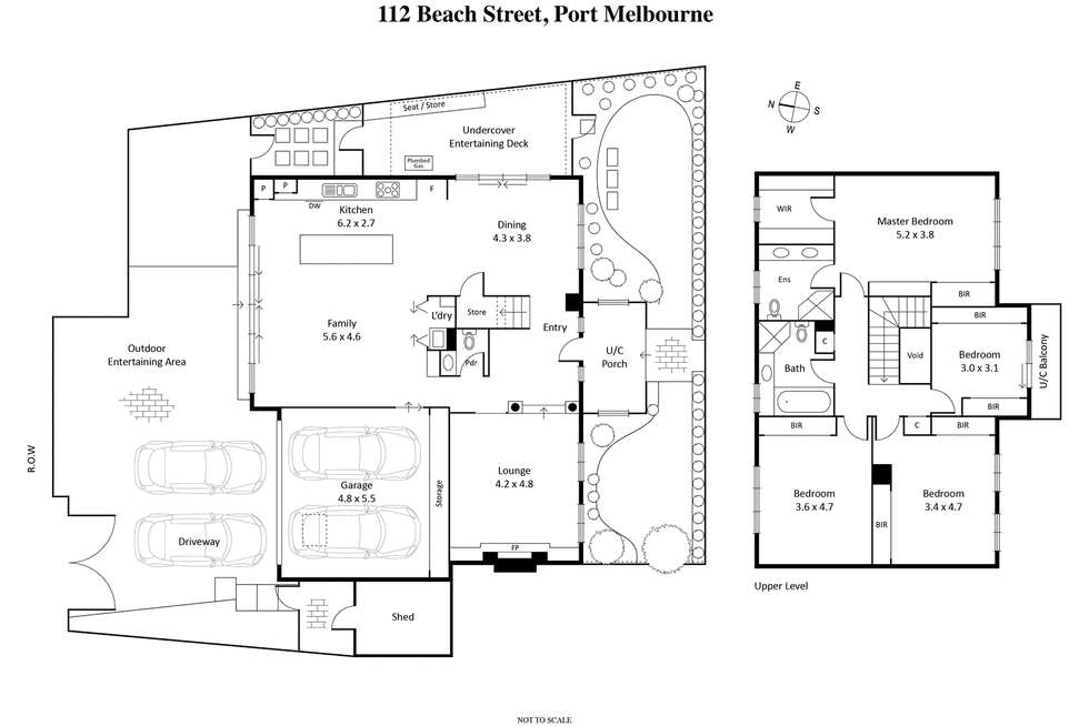 Floorplan of Homely house listing, 112 Beach Street, Port Melbourne VIC 3207