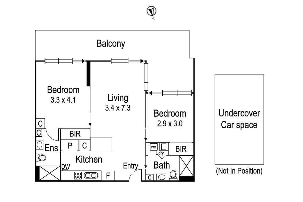 Floorplan of Homely apartment listing, G11/1 Westley Avenue, Ivanhoe VIC 3079