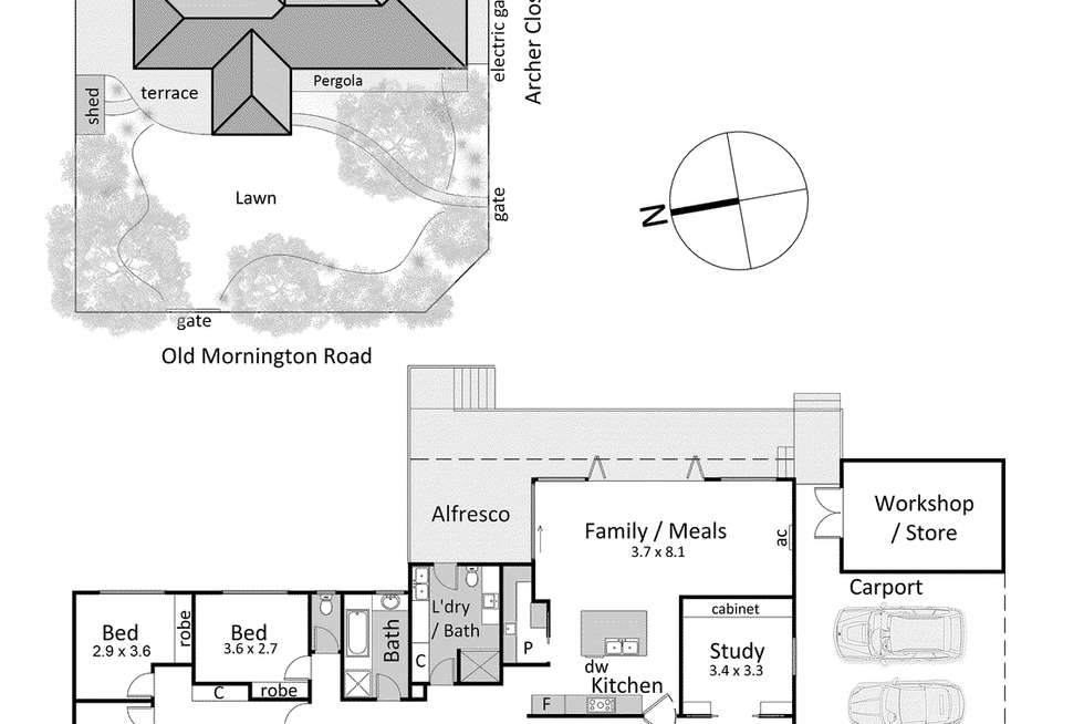 Floorplan of Homely house listing, 78 Old Mornington Road, Mount Eliza VIC 3930